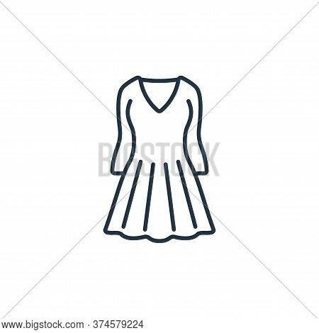 dress icon isolated on white background from clothes and outfit collection. dress icon trendy and mo
