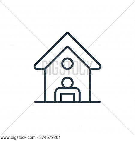 stay at home icon isolated on white background from coronavirus disease collection. stay at home ico