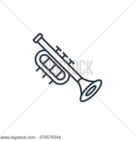 trumpet icon isolated on white background from music instruments collection. trumpet icon trendy and