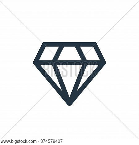 diamond icon isolated on white background from user interface collection. diamond icon trendy and mo