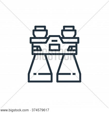 binocular icon isolated on white background from camping collection. binocular icon trendy and moder