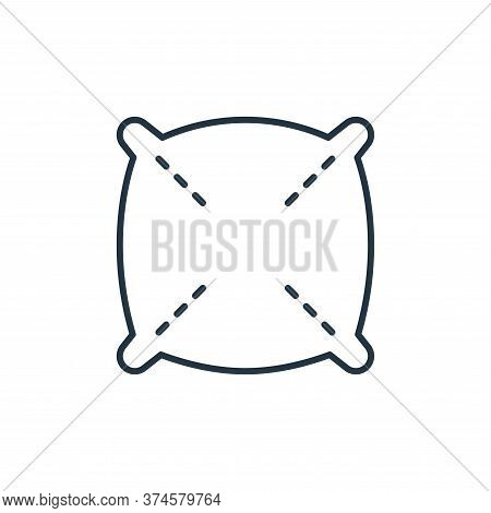 pillow icon isolated on white background from interiors collection. pillow icon trendy and modern pi