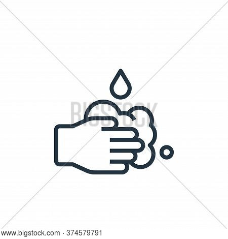 washing hands icon isolated on white background from stay at home collection. washing hands icon tre