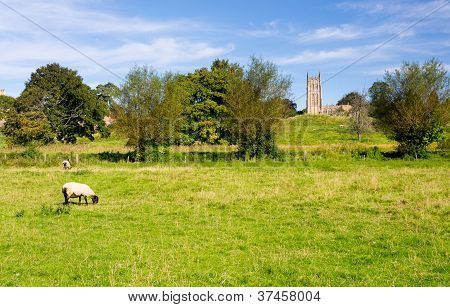 Church St James Across Meadow In Chipping Campden