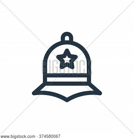 police hat icon isolated on white background from england collection. police hat icon trendy and mod