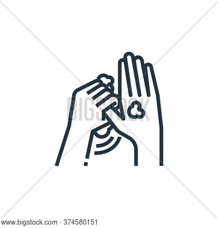 washing hand icon isolated on white background from wash hands collection. washing hand icon trendy
