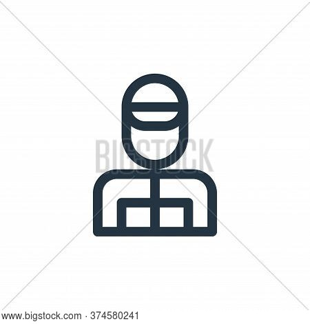 racer icon isolated on white background from auto racing collection. racer icon trendy and modern ra