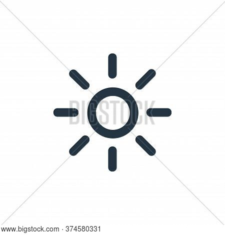 sun icon isolated on white background from user interface collection. sun icon trendy and modern sun