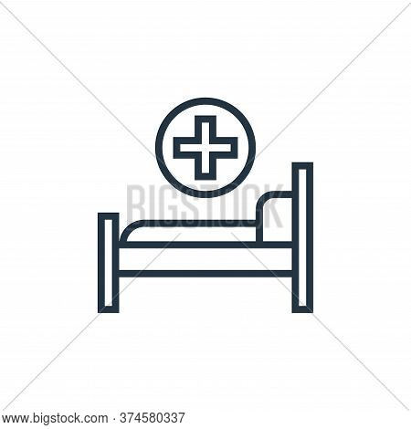hospital bed icon isolated on white background from pandemic collection. hospital bed icon trendy an
