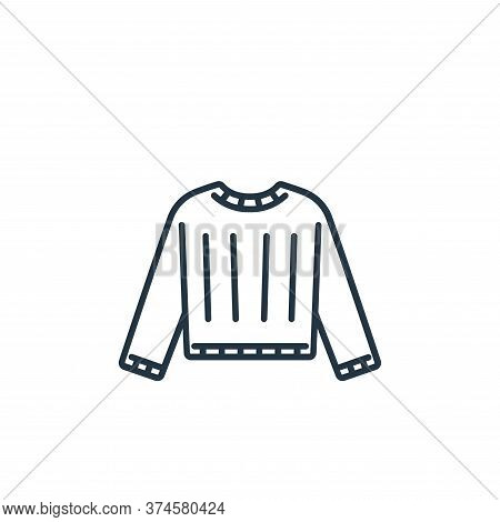 sweater icon isolated on white background from clothes and outfit collection. sweater icon trendy an