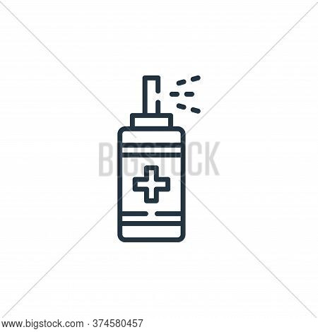 spray bottle icon isolated on white background from hygiene routine collection. spray bottle icon tr