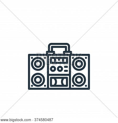 radio icon isolated on white background from stay at home collection. radio icon trendy and modern r