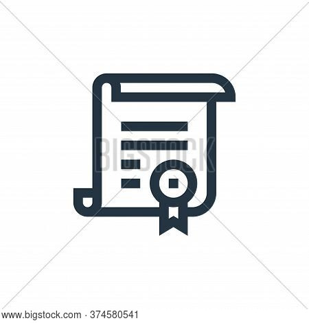certificate icon isolated on white background from pharmacy collection. certificate icon trendy and