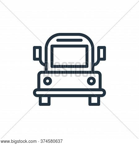 bus icon isolated on white background from school collection. bus icon trendy and modern bus symbol