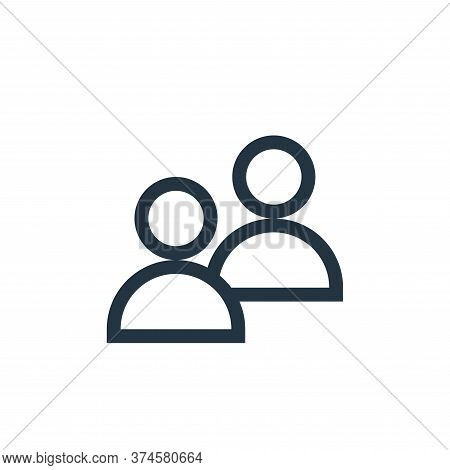 users icon isolated on white background from web essentials collection. users icon trendy and modern