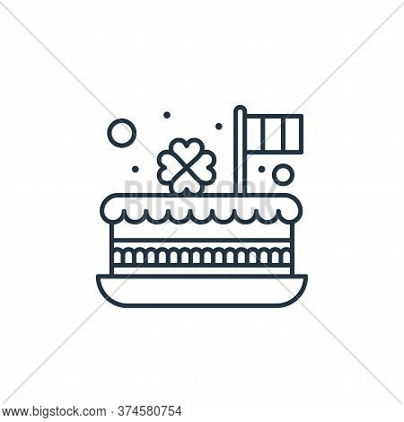 cake icon isolated on white background from saint patrick collection. cake icon trendy and modern ca