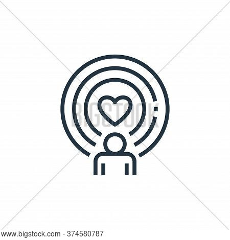 spirit icon isolated on white background from work life balance collection. spirit icon trendy and m