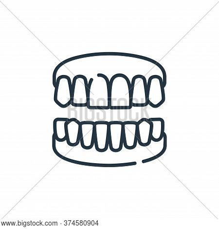 denture icon isolated on white background from dental care collection. denture icon trendy and moder