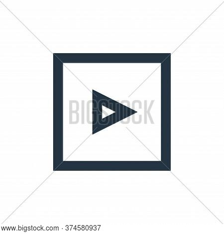 video player icon isolated on white background from user interface collection. video player icon tre