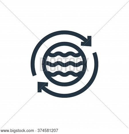 save water icon isolated on white background from mother earth day collection. save water icon trend