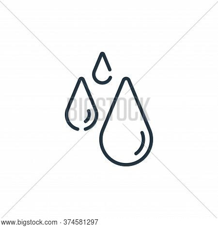 water icon isolated on white background from bathroom collection. water icon trendy and modern water