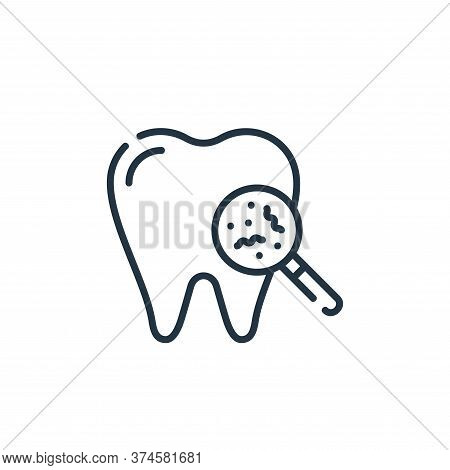 bacteria icon isolated on white background from dental care collection. bacteria icon trendy and mod