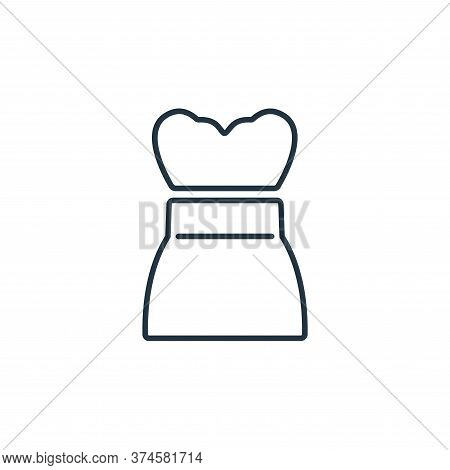 strapless dress icon isolated on white background from clothes and outfit collection. strapless dres