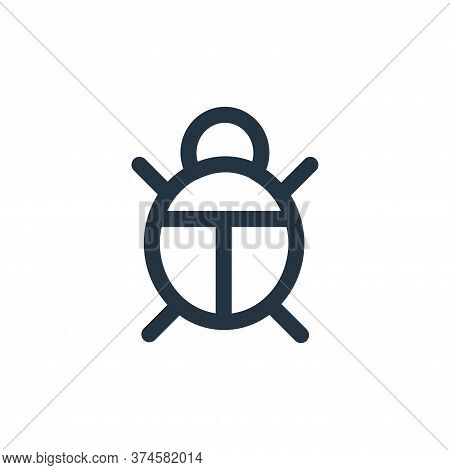 bug icon isolated on white background from landscaping equipment collection. bug icon trendy and mod