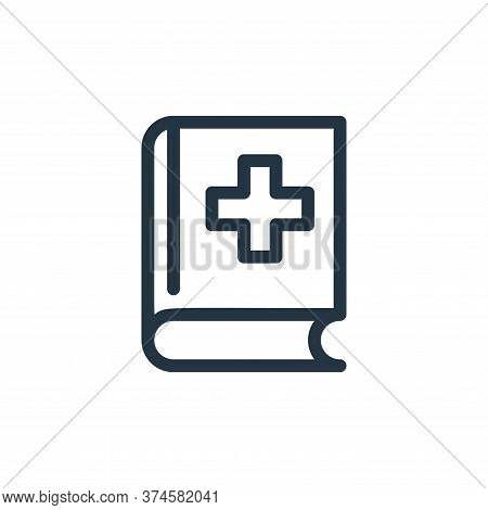 medical book icon isolated on white background from medical tools collection. medical book icon tren