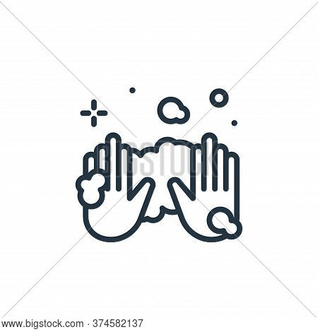 hands icon isolated on white background from hygiene collection. hands icon trendy and modern hands
