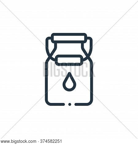 milk icon isolated on white background from in the village collection. milk icon trendy and modern m