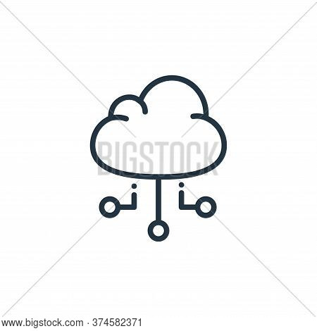 cloud computing icon isolated on white background from online learning collection. cloud computing i