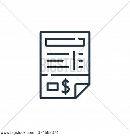 invoice icon isolated on white background from delivery collection. invoice icon trendy and modern i