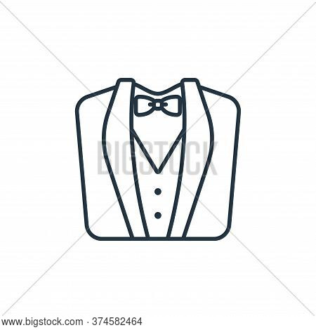 wedding suit icon isolated on white background from clothes and outfit collection. wedding suit icon