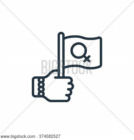 flag icon isolated on white background from womens day collection. flag icon trendy and modern flag