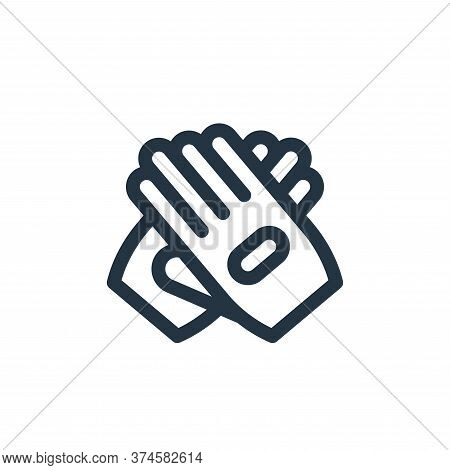 glove icon isolated on white background from auto racing collection. glove icon trendy and modern gl