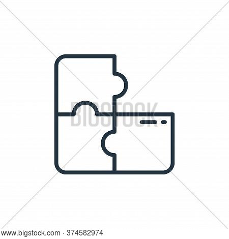 puzzle icon isolated on white background from stay at home collection. puzzle icon trendy and modern