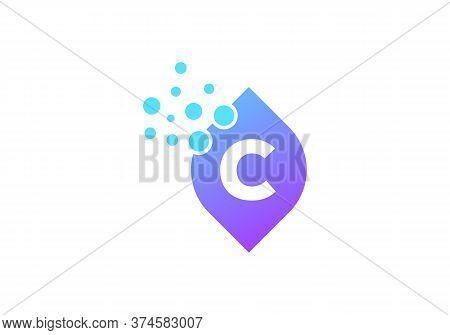 Organic Leaf Logo, Letter C Icon Vector. C Letter Logo With Leaf Concept