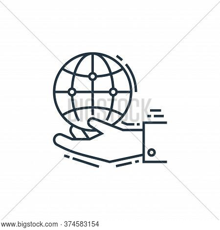 save the planet icon isolated on white background from environment and eco collection. save the plan