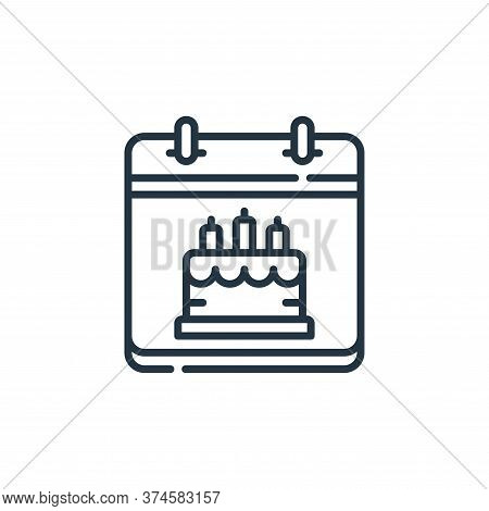 birthday icon isolated on white background from calendar and date collection. birthday icon trendy a
