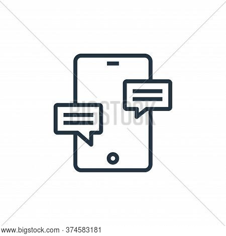 messages icon isolated on white background from hospital collection. messages icon trendy and modern
