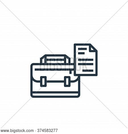 briefcase icon isolated on white background from stationery collection. briefcase icon trendy and mo