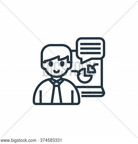 presenting icon isolated on white background from working from home collection. presenting icon tren