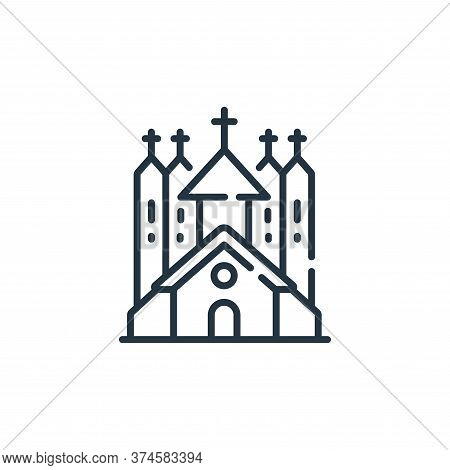 church icon isolated on white background from england collection. church icon trendy and modern chur