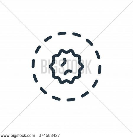 area icon isolated on white background from coronavirus collection. area icon trendy and modern area