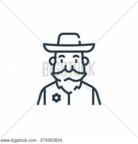 sheriff icon isolated on white background from fantastic characters collection. sheriff icon trendy