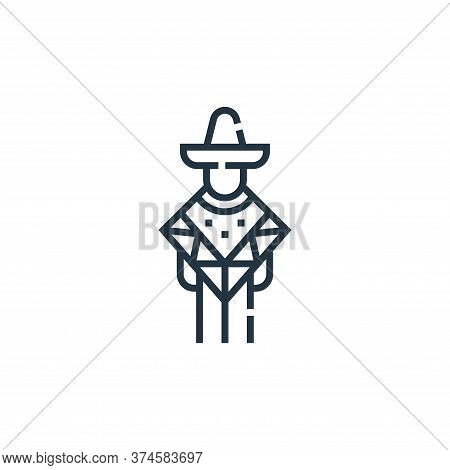 mexican man icon isolated on white background from cinco de mayo collection. mexican man icon trendy