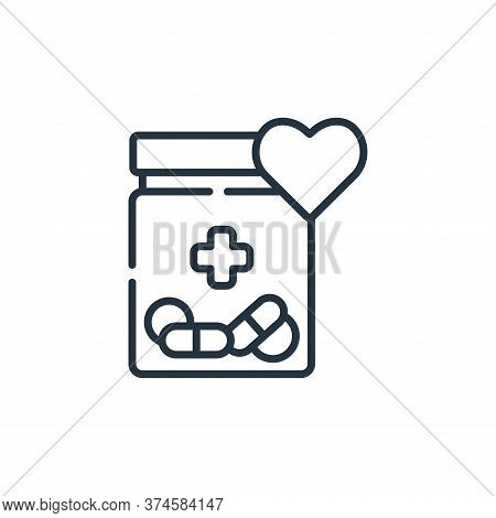 medicine icon isolated on white background from kindness collection. medicine icon trendy and modern