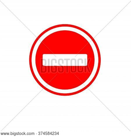 Vector Stop Sign Icon.stop Traffic Symbol. Traffic Regulatory Warning Stop Symbol. Icon Stop Red