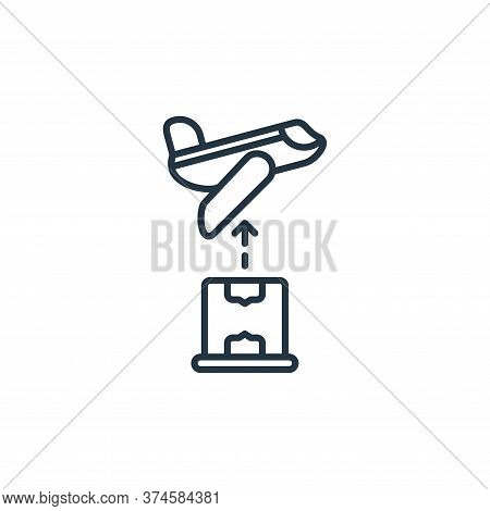 plane icon isolated on white background from shipping and delivery collection. plane icon trendy and